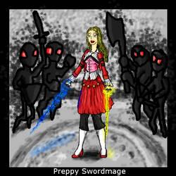 Preppy Swordmage by dogdragon