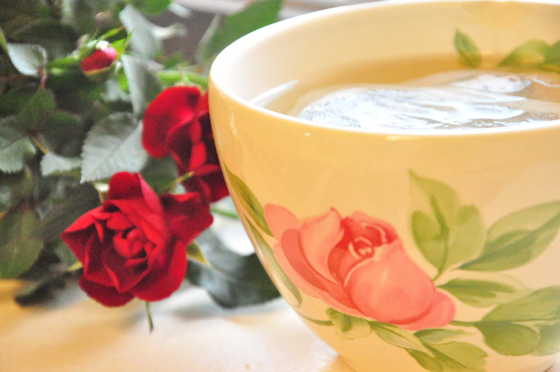tea and roses by hypoxia-stock