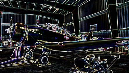 aeroplane hangar by jennystokes