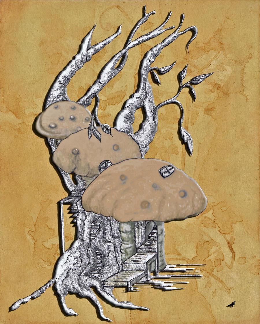 Mushroom house by jennystokes