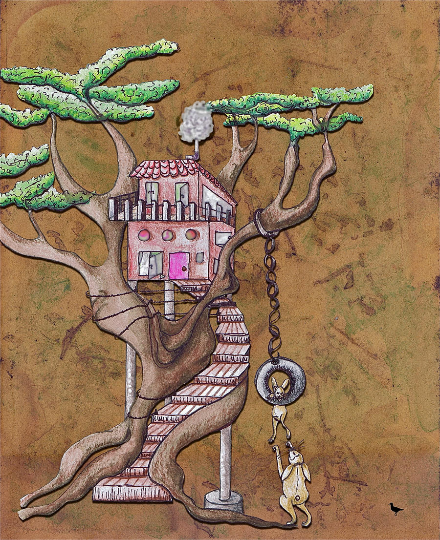 Rabbits tree house by jennystokes