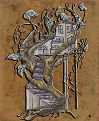 Twisted tree house