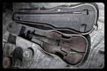 Broken strings.