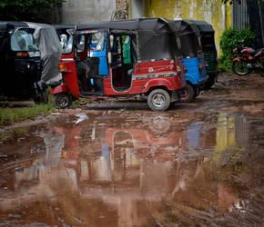 Tuk-Tuk's and mud. by jennystokes