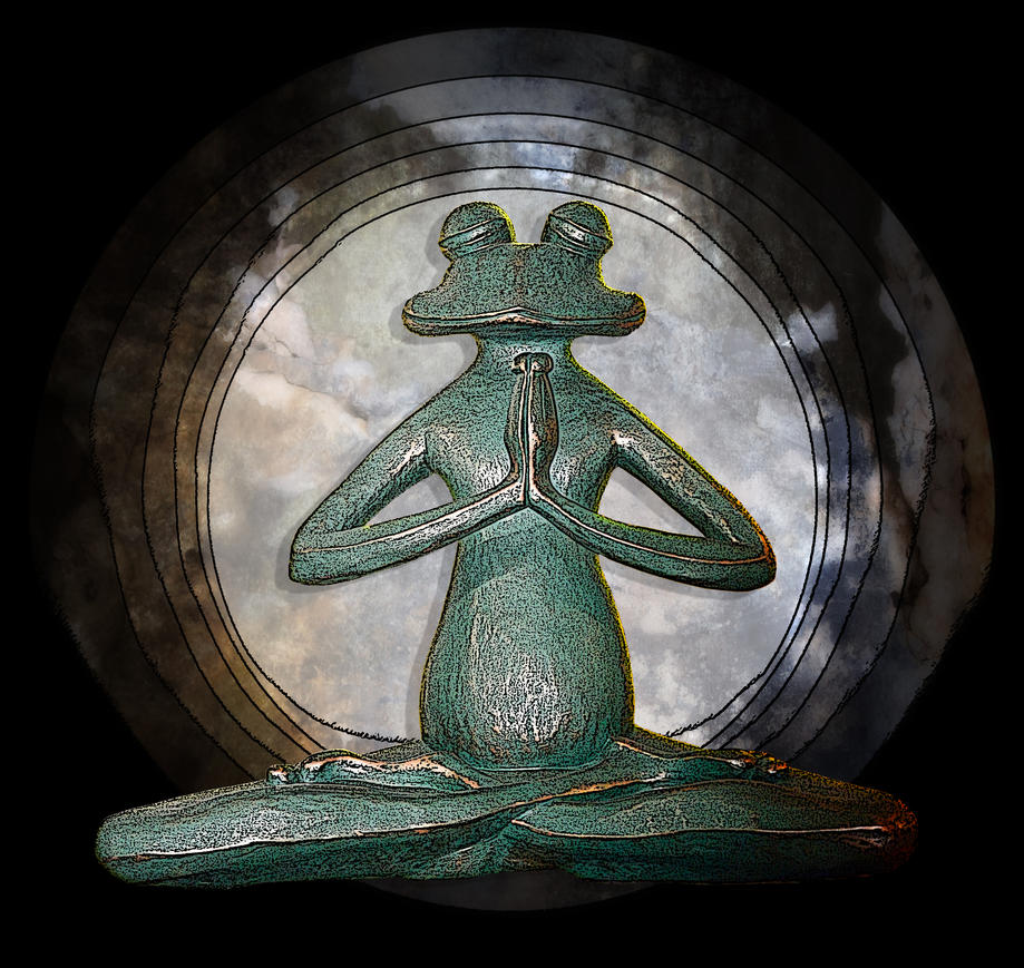 Frog yoga by jennystokes