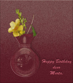 Happy Birthday dearest Marta