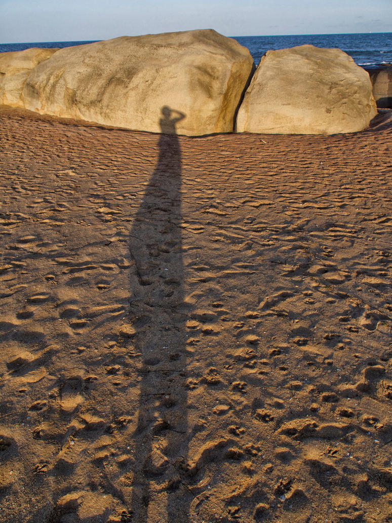 Evening shadow on MY beach! by jennystokes