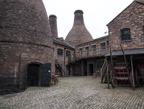 Courtyard inside Moorcroft Pottery. Stoke-on-Trent