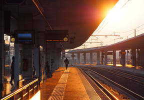 Padova train station. Dawn. by jennystokes