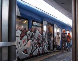 Grafitti train. Padova. Italy by jennystokes