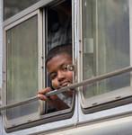 Bus window. Galle. SL 2018