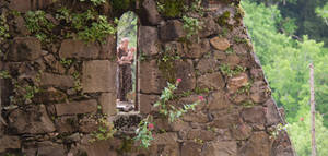 Statue. Najac. Aveyron. Fr.