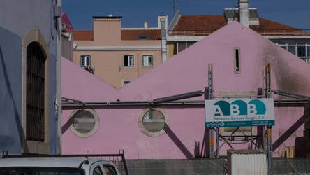 The big pink. Colours of Lisbon. Portugal