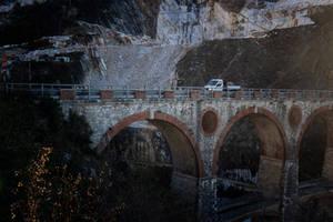 Railway bridge. Carrara. Italy