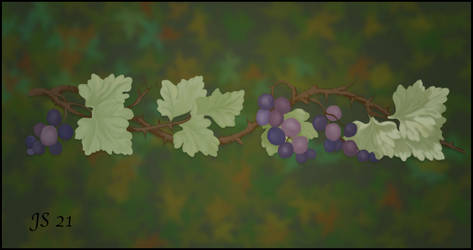 Grapes and leaves.2