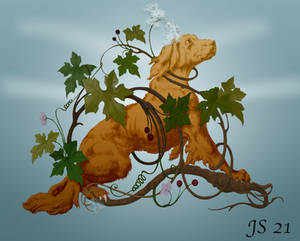 Dog and nature design.