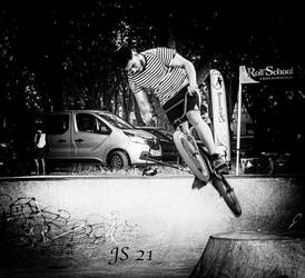 Serious rider. Beaucaire. FR.