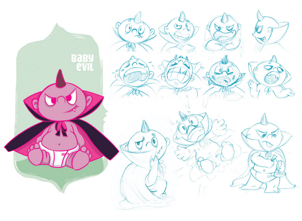 Baby Evil Character Design by echoey