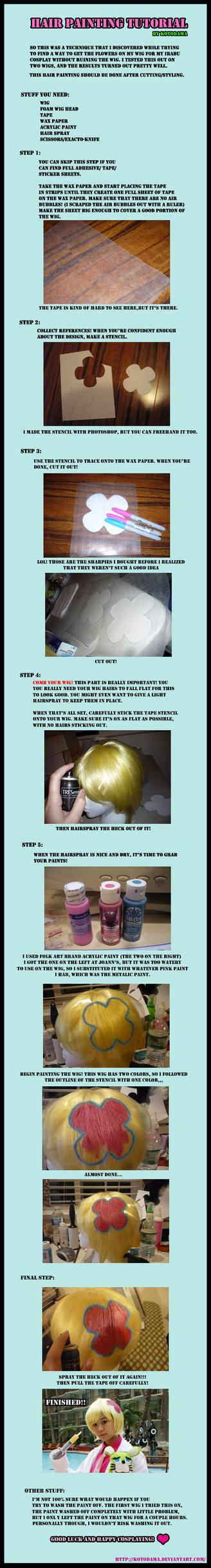 Cosplay Tutorial: Wig Painting by Kotodama