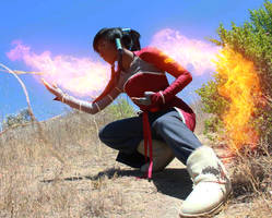 Korra Cosplay-Firebending