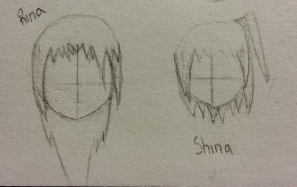 Rina and Shina Hairstyles by KurouixKagami