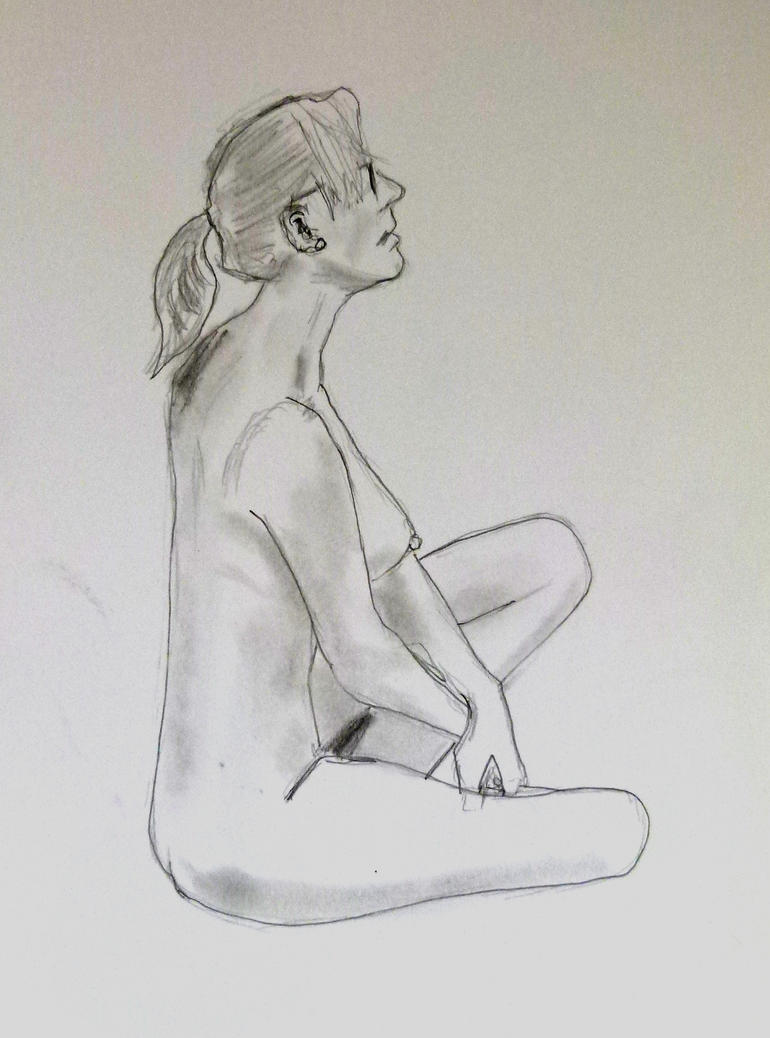 Flying Duck Life Drawing 069 by Jack7176