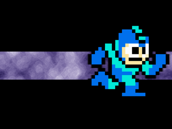 Megaman 8-bit Wallpaper by Icyfrodo