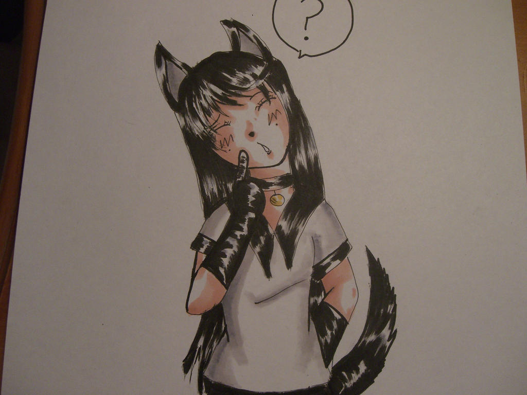Confused black shepherd by AnimeIsASWM