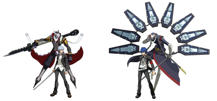 P4VSP3 Yu and Izanagi VS Minato and Thanatos by ZeroSenPie ...Izanagi No Okami Wallpaper