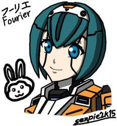 PSO2 Fourier w/out helmet by ZeroSenPie
