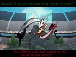 RWBY X OC Garrett Strider VS Qrow Branwen by ZeroSenPie