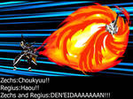 PSO2 X OC Zechs and Master Regius combo attack
