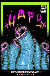 MONGOLIAN DEATH WORM PRINT by xHAPYx
