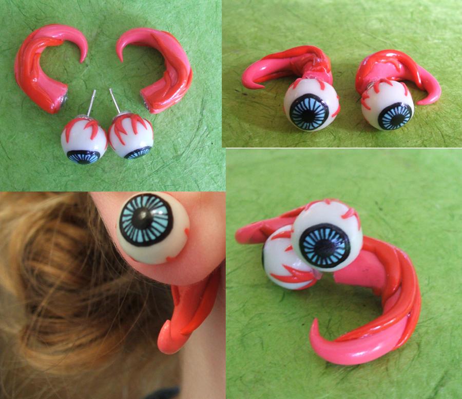 Eyeball Fake gauge earring by cashewed-almonds