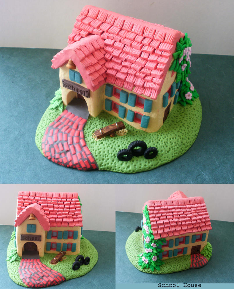 School House Polymer Clay by cashewed-almonds