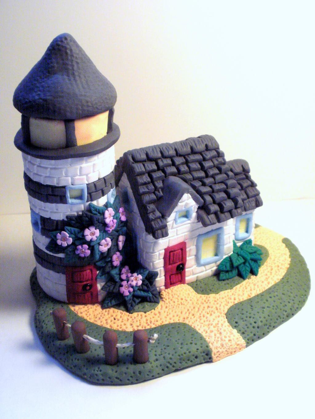 how to make a lighthouse out of clay