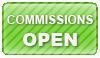 Commission OPEN stamp by Hoshino-Arashi