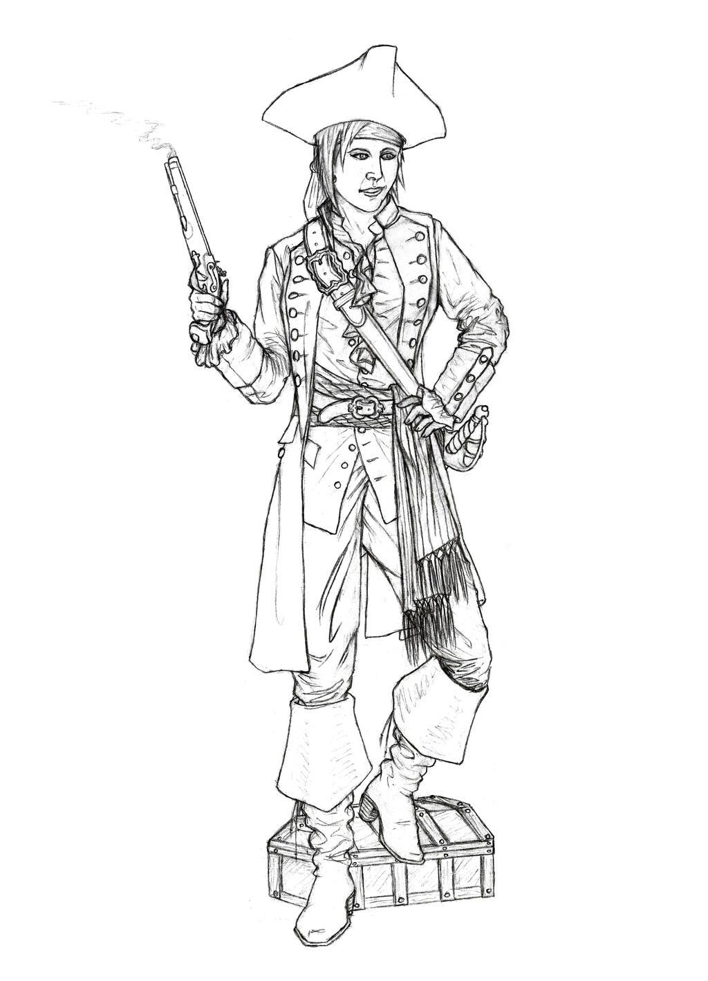 Sarah Rose Black, Pirate Queen by Manveruon