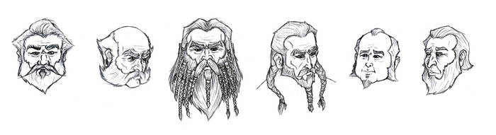 Dwarf Facial Study by Manveruon