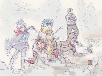 PW: AA Winter Exchange by pandabuncake