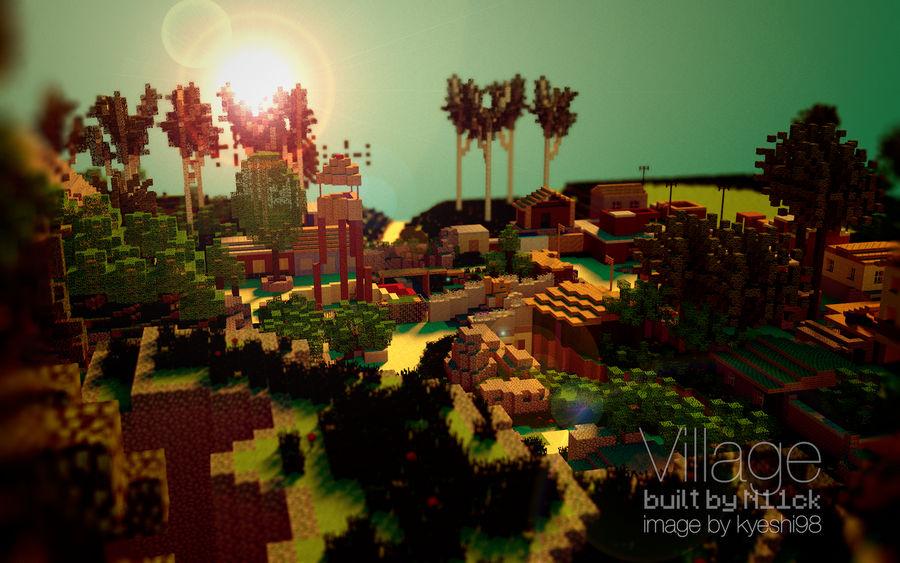 Village - MW3 Map Minecraft Remake - by N11ck by