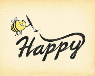 Bee Happy by temy0ng