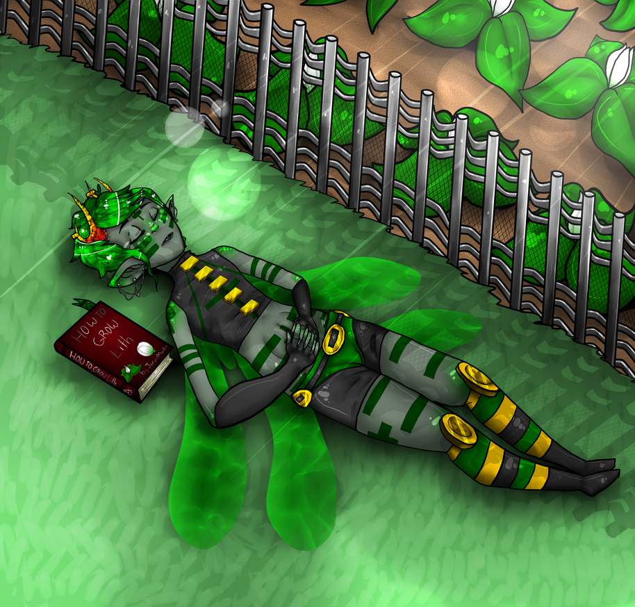 Jarvis: Sleep by your garden by evillovebunny500