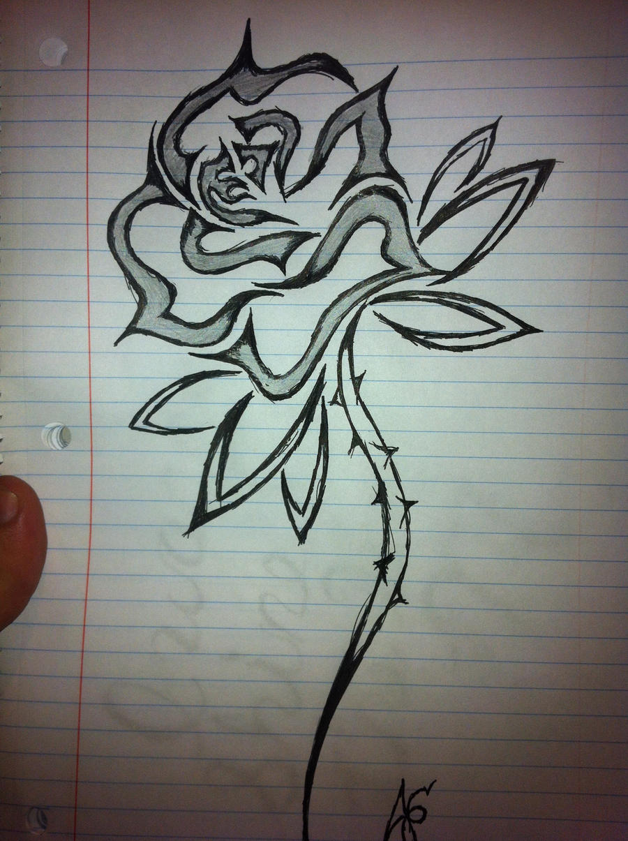 Tribal rose tattoo by ramboacp on deviantart for Tribal rose tattoo designs