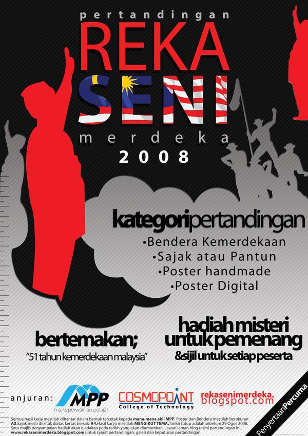 Reka Seni Merdeka 2008 Poster by zxara
