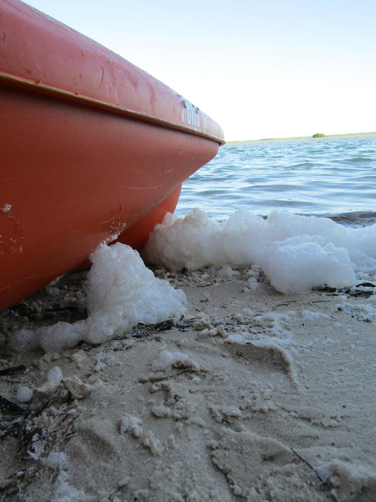 Kayak and Sea Foam by DoodleArt10