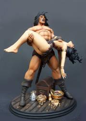 Conan: Death of Belit statue by GabrielxMarquez