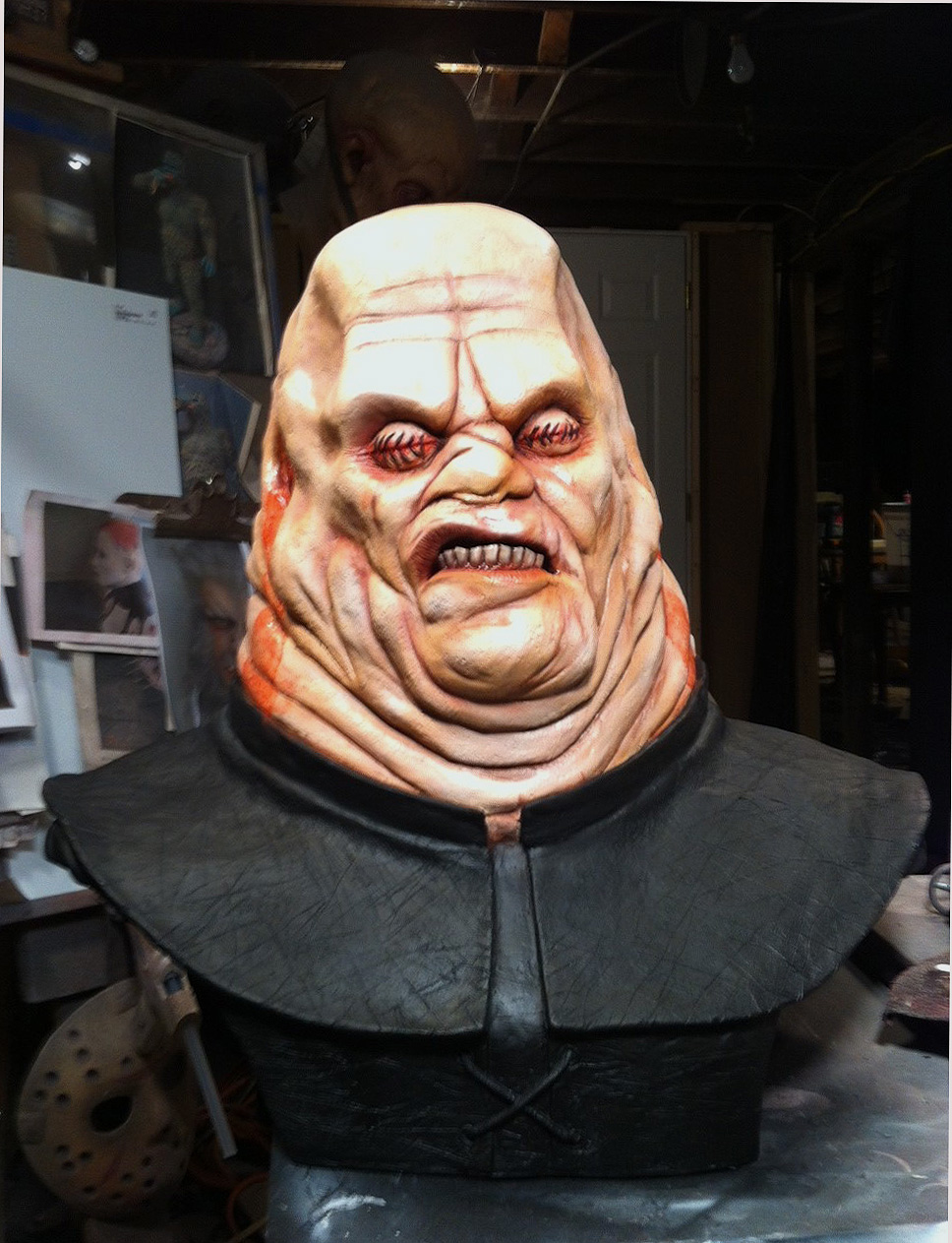 hellraiser butterball cenobite bust by gabrielxmarquez on