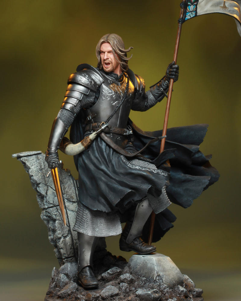 The Two Towers Special Edtion: Boromir Statue by GabrielxMarquez