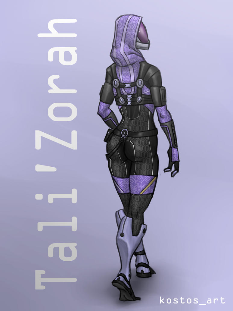Tali'Zorah by Kostosart